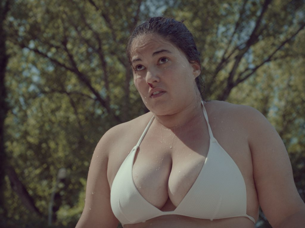 Pictures from Piggy (cerdita), the short film on body shaming showing on A Lady's Voice Network